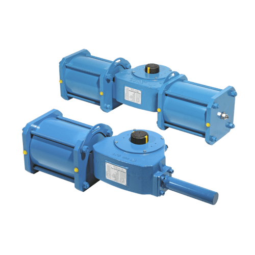 Pneumatic scotch yoke actuators APG series.