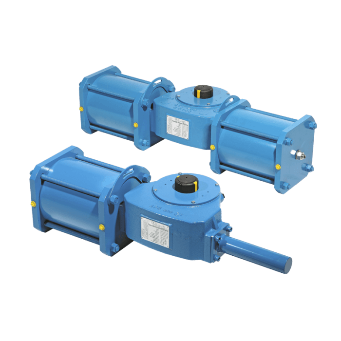 Pneumatic scotch yoke actuators APG series.